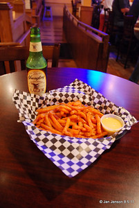 A very tasty way to end a GREAT evening - sweet tater fries and a good beer  at Uncle Bucks in Salisbury, NC.