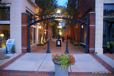 Entrance to Easy Street - for Kalima Tribal drumming - in Salisbury, NC