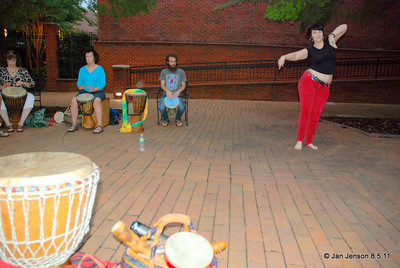 Kalima Tribal - drumming on Easy Street in Salisbury, NC