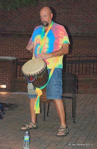 Kalima Tribal - drumming on Easy Street in Salisbury, NC Joe Sulkowski