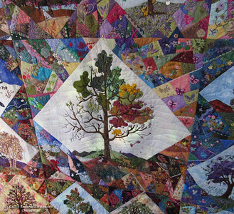 A quilt that took 35 women eight years to make will be raffled to a lucky winner in December. The Oroville Piecemakes Qult Guild is raising money to provide materials for other projects. (Heather Hacking-Enterprise-Record).