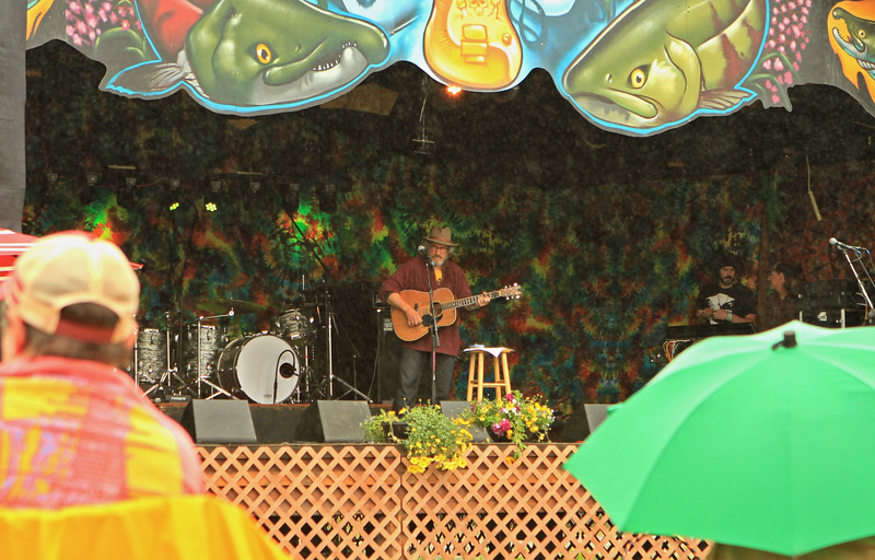 A folksinger by the name of Jim Page.  I remembered him from last year's Salmonfest.