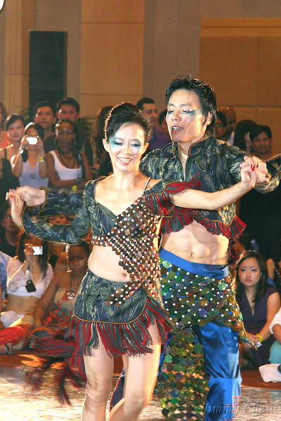 """<font color=""""yellow"""">Sally and Gavin Chan performing NY SALSA ON 2.</font><br>"""