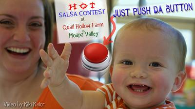 Video Salsa Contest by Kiki Kalor for Summer Salsa Contest at Quail Hollow Farm CSA Moapa Valley. Contact Kiki Kalor phone (702) 466-2650 and email kikikalor@cox.net