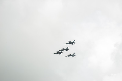 Hyundai Air & Sea Show Salute Flight US Air Force F-16C Fighting Falcon 482nd Fighter Wing Makos Aircraft National Salute