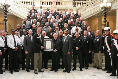 As founder of the Georgia Association of Chiefs of Police, and serving as its director and chaplain for over 20 years, Msgr. Kiernan was also honored by the police chiefs around the state.