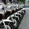 I like how the police bikes created a pattern
