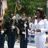 Miss America Ericka Dunlap and U.S. Army Ground Forces Color Guard