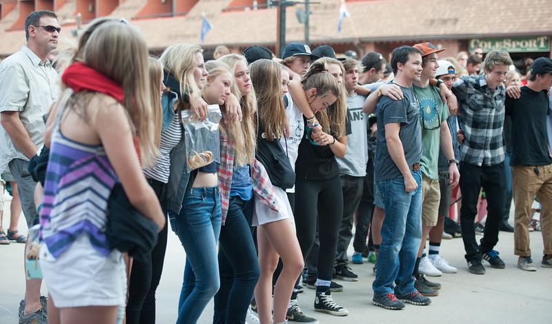 Friends and strangers hugged each other to show the love for Sam.