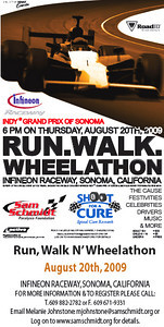 2009 Sam Schmidt Run Walk and Wheelathon at Infineon Raceway!