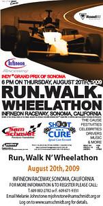 2009 Sam Schmidt Run Walk and Wheelathon at Infineon Raceway!