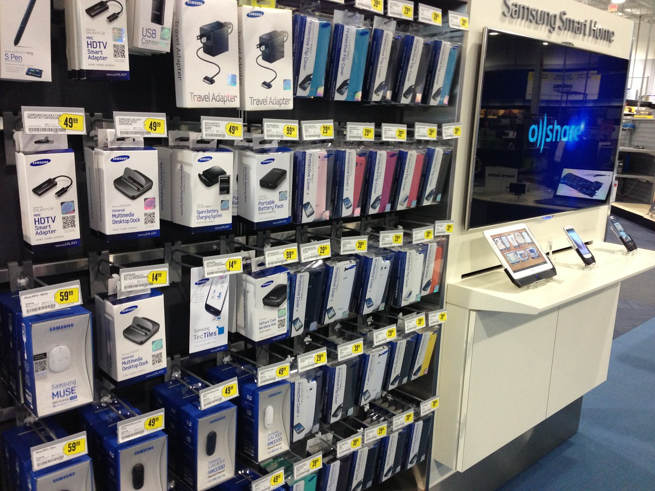 While Apple is known for the wide range of accessories made for its gear, Samsung hopes to show off its own broad array of add-ons in a dedicated area of its Samsung Experience Shops inside Best Buy.