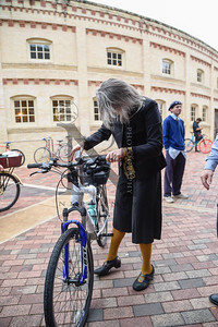 The San Antonio Tweed Ride and Toy Drive, a fashionably fun and charitable group bicycle ride through downtown SATX, in which the cyclists are expected to dress in traditional Early American or British cycling attire graced the streets on 11 Dec 2016. Gallery: http://smu.gs/2ho3J92