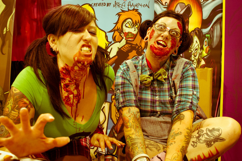 Zombie Chicks. What? You think the blood is fake?