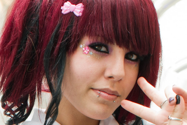 Gothic Lolita Red. This is a crop of a different Gothic Lolita Girls photo.