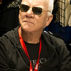 "Malcolm McDowell. The actor scared away people from the ""Clockwork Orange"" Comic-Con 2010 booth. This is a crop."