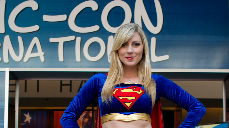 Supergirl. The full-body shot is even better, but I cropped to remove men gawking in the background.