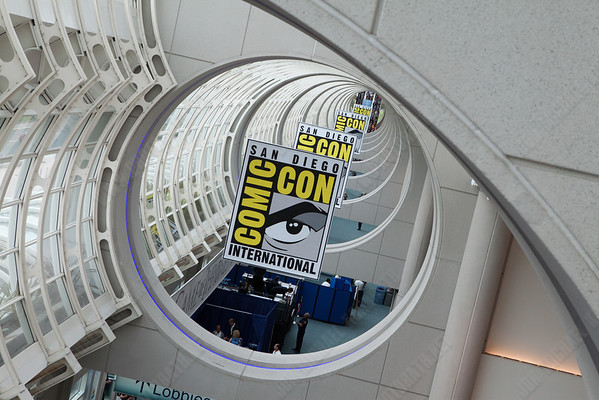 In the lobby at SDCC.