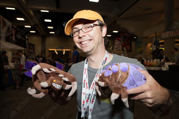 Matt with the Blizzard loot.