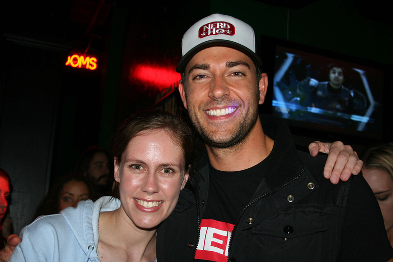 Me with Zachary Levi at the Nerd Tweetup at NerdHQ