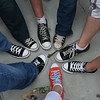 Our overnight hangout group had some rockin' footwear.