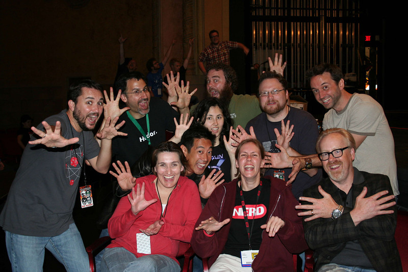 Me with the w00tstock cast!