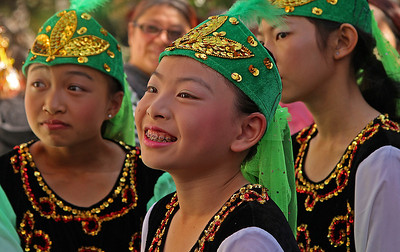 Dancers Backstage Watching and Waiting Their Turn, Autumn Moon Festival 2012, San Francisco