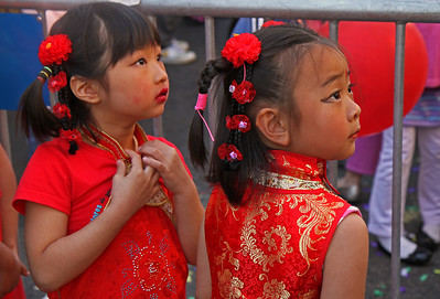 The little dancers backstage watching their older counterparts on stage
