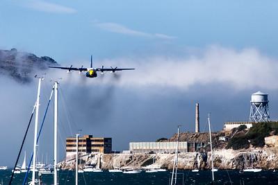 Fleet Week - San Francisco  2014-10-11  - Blue Angels - Bird Plane of Alcatraz