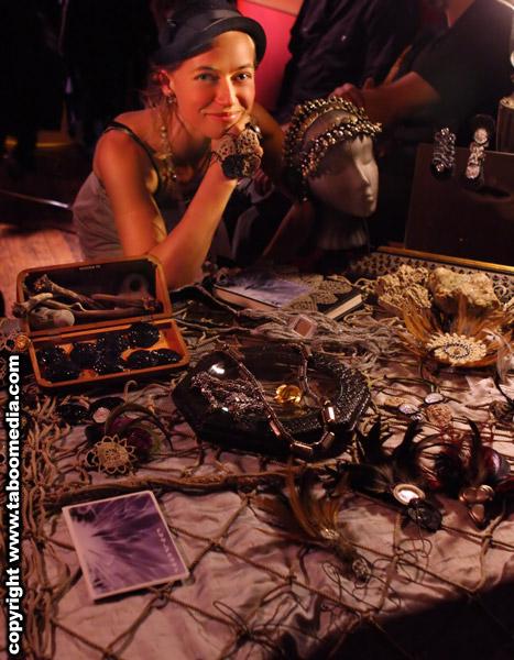 Lee Kobus peddles her wares