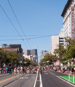 The view down Market St after the parade.