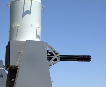Phalanx anti-missile system. There were at least 6 of these on the ship.