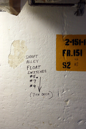 Float switches. Is that the only thing keeping the ship floating? That would be bad.