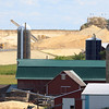 "Open pit sand mine behind Amish and ""English"" farm"