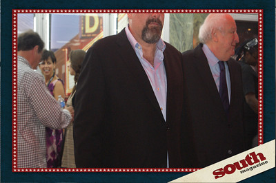 Mas Panache! Actor James Gandolfini and Publicist to the stars Bobby Zarem at the Savannah Film Festival opening night .