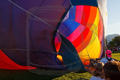 Between shots filling the balloon with exhaust from the burners.