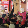 Record-Eagle/Jan-Michael Stump<br /> Santa Claus arrived in downtown Traverse City Friday evening to light the downtown Christmas tree.