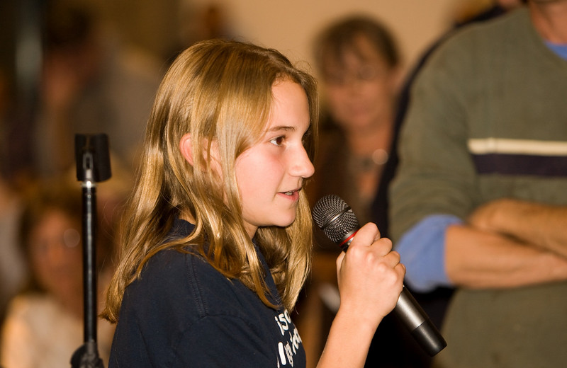 12 year old Cris Iannucci takes the mic and tell Bill Dirks the people of Santa Fe won't let it happen !