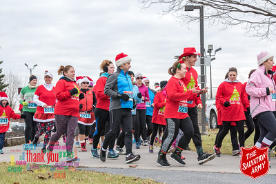 Cornwall Salvation Army Shuffle Run - December 2nd 2017
