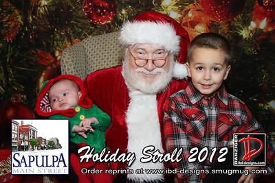 Sapulpa Holiday Stroll Santa 12-13-12