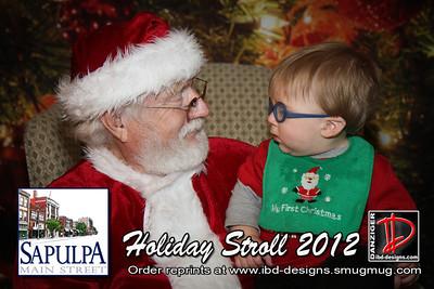 Sapulpa Holiday Stroll Santa 12-6-12