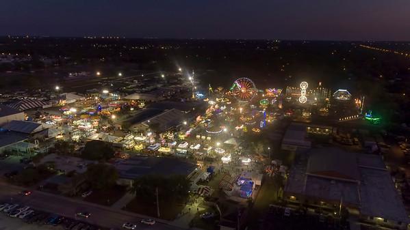Aerial view of The Sarasota County Fair 2017