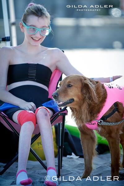 Savanah and Bellamy, surf Dog