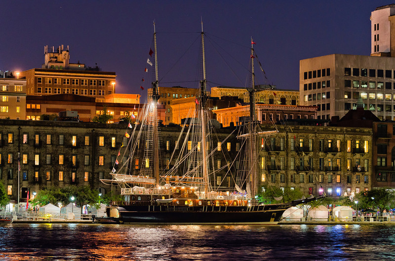 The Peacemaker docked in Savannah, GA