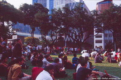 fujichrome provia 400X - more of the crowd