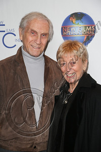 "CENTURY CITY, CA - DECEMBER 13:  Actor Peter Mark Richman (L) and wife Helen Richman attend the screeming of ""Saving Grace B. Jones"" at ICM Screening Room on December 13, 2012 in Century City, California.  (Photo by Chelsea Lauren/WireImage)"