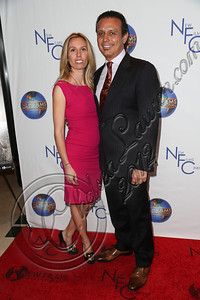 "CENTURY CITY, CA - DECEMBER 13:  New Films International president Nesim Hason (R) and wife executive producer Sezin Hason attend the screeming of ""Saving Grace B. Jones"" at ICM Screening Room on December 13, 2012 in Century City, California.  (Photo by Chelsea Lauren/WireImage)"