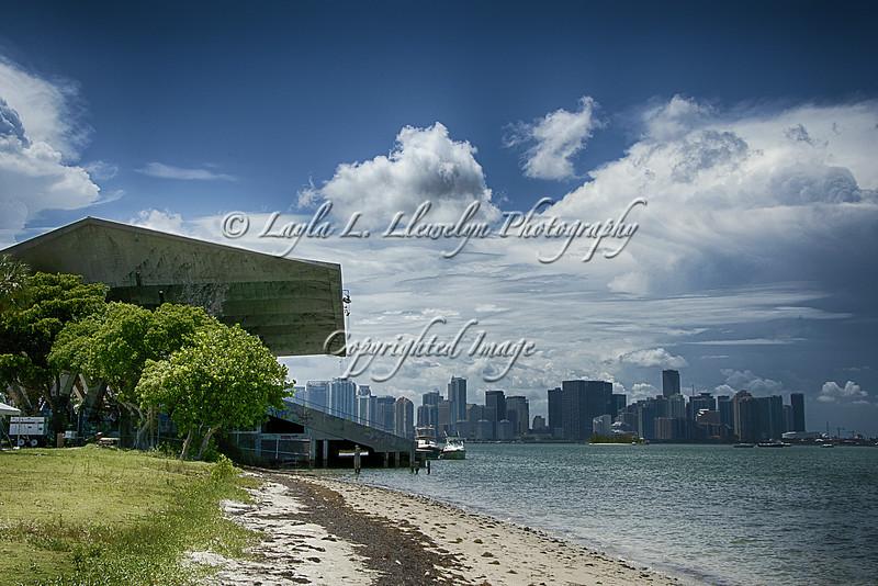 View of Miami from the Marine Stadium