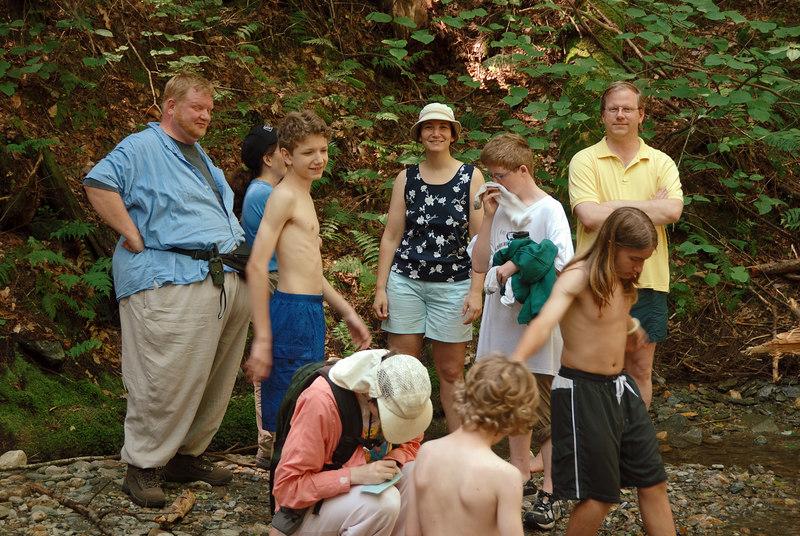 <b>Our group below Tannery Falls</b>   (Jul 01, 2006, 11:15am)