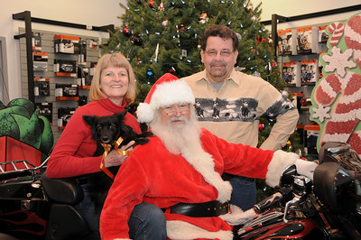 Roger, Doris and Carle Davis are true believers that you are NEVER too old for Santa Claus!  Bernville, PA